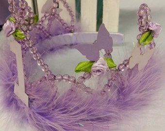 Butterfly 1st Birthday Tiara - Choice of Numbers and Colors