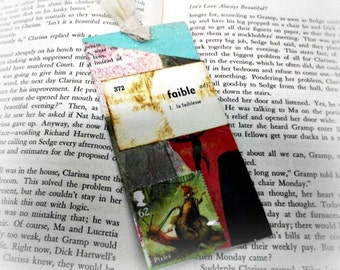 SALE Buy 2 Get 1, Scrap Paper Bookmark, Recycled Bookmark, Upcycled Book Mark, Reading Accessory, Teacher Gift, Librarian Gift, Book Worm