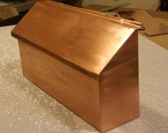 Wall Mount Copper Mailbox