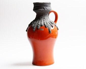 Vintage German Tall Lava Vase c. 60s 70s -Roth Ceramics