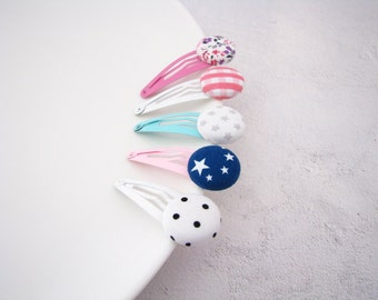 Set of 5 Toddler Girls Hair Clips - Girls Hair Accessory - Toddler Gift - Gift for Baby