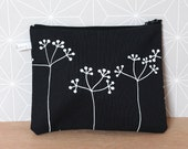 Black and white pouch - Elderberries