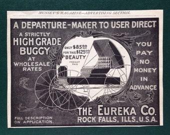 The Eureka Co. High Grade Buggy Rock Falls Illinois