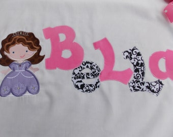 Personalized Pillowcases-Monogrammed Summer Camps Slumber Parties Birthday Parties princess party
