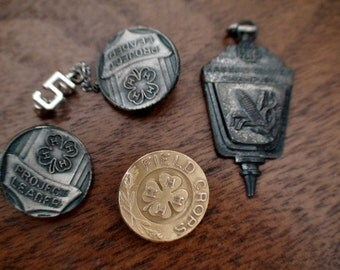 Collection of 4H Pins, Includes 5 year Pin Attachment and a Pendant