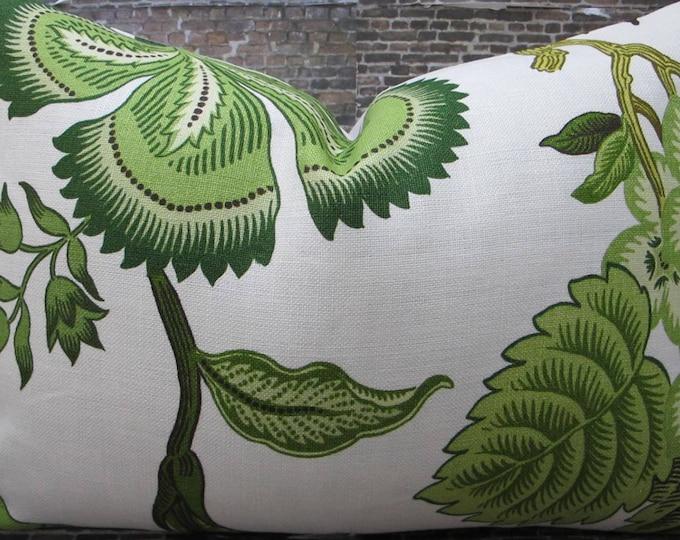 Celerie Kemble / F. Schumacher Fabric Pillow Cover 14 x 20- Hot House Verdance