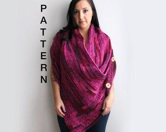 Crochet Shawl Pattern, Wrap Crochet Pattern, Instant PDF Download