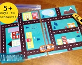 Road Maps Folder Game or Busy Bag for Hot Wheels Cars