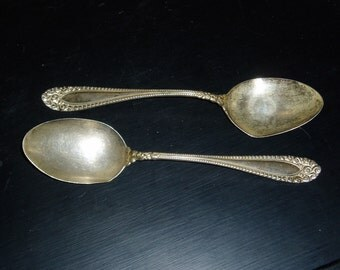 Two Sterling Silver Serving Spoons, Kenilworth Pattern, c. 1887
