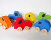Wooden Vehicles, Car, Waldorf Toy, Nursery Decor, Childs Room, Stocking Stuffer