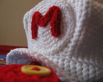 Super Mario Brothers - Fire Mario or Luigi Hat - Baby to Adult