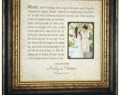 Personalized Wedding Gift for Mom Parents, Mother of The Bride Gift, Gift for Bride Mother, wedding cake toppers decoration reception 16x16