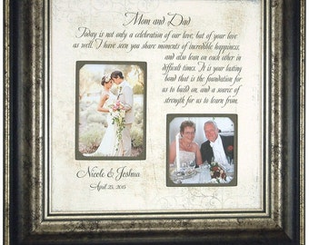 Wedding Gift for Parents, Mr Mrs, Sign, Bride, Groom, Today A Celebration of Our Love, Bridal Showers, Photo Booth, Mom and Dad, 16 X 16