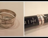 Ring Silver Adjustable Size 8  Women Jewelry Metal Recycled  Spiral Unisex Handmade Rustic Hobo Gift Under 10 Valentines Day Solid R-793