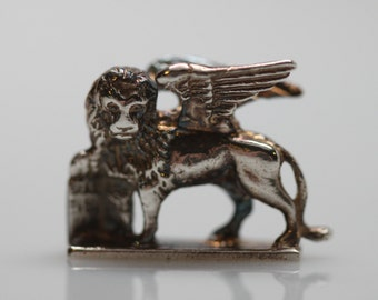 Venice of St Mark Sterling Silver Lion Charm 925
