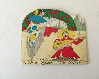 Beautiful vintage valentine card