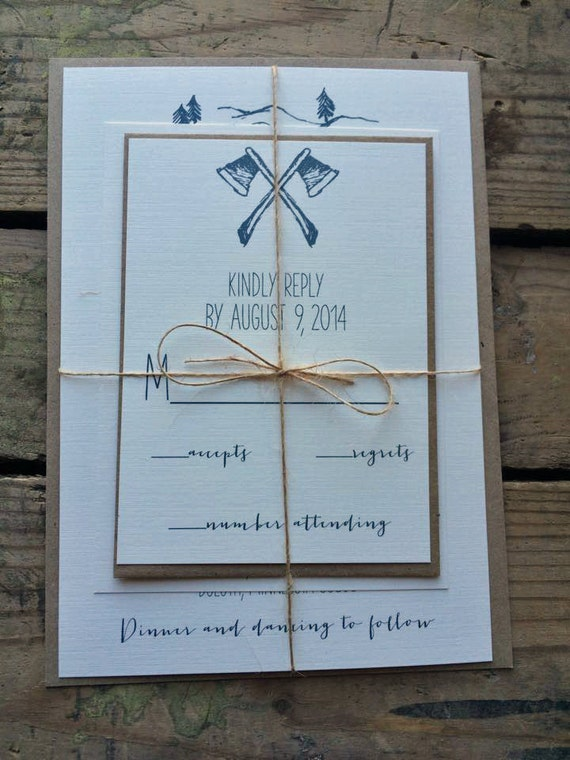 Sample Wedding Invitation // Rustic Calligraphy Style // Neutral ...