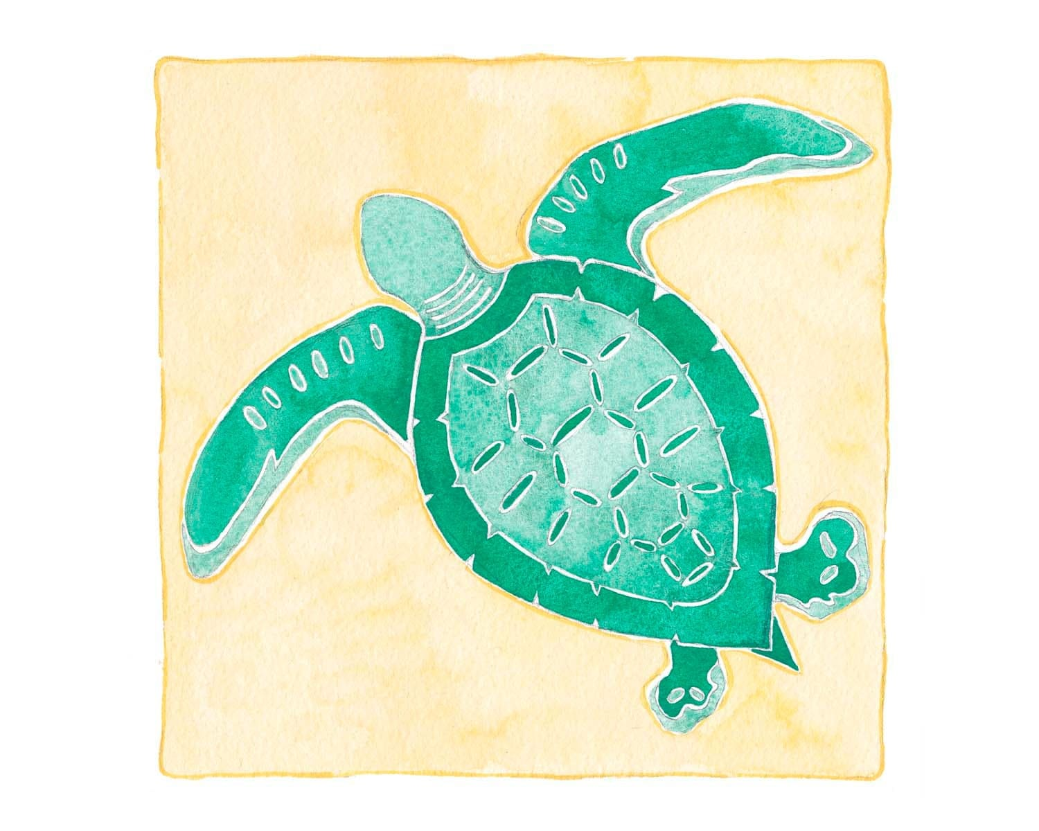 Sea Turtle Art Beach Decor Sea Turtle Wall Art Sea