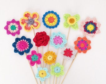 Crochet Flower Patterns Pattern Pack - Instant Download