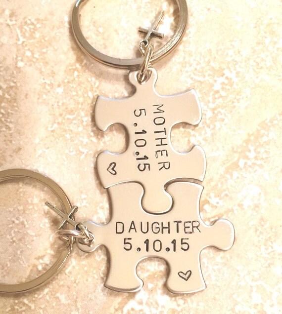 Mère fille cadeaux mère fille trousseau-, cadeau de fête des mères-, personnalisés porte-clés-, natashaaloha