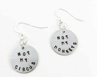 Funny Earrings (Not My Circus, Not My Monkeys)