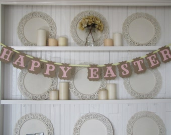 HAPPY EASTER Banner, Easter Sign, Happy Easter Sign, Easter Decoration, Spring Decoration