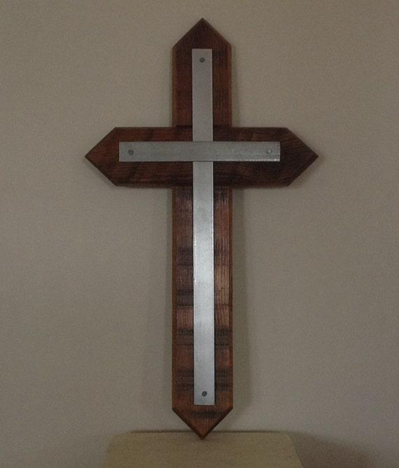 Handmade Rustic Wall Decor : Rustic cross handmade wooden religious wall art
