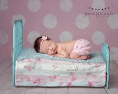 Newborn Photo Prop Bed Shabby Chic Metal Bed