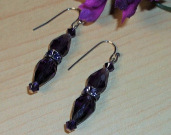 Gorgeous Swarovski Purple Passion Earrings