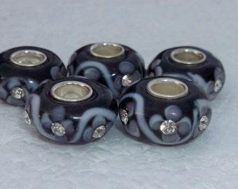 5  Murano Lampwork Beads