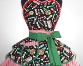 Santa Helper Lollipop and Candy Cane Christmas Apron