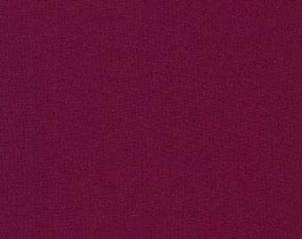 Bordeaux, Kona Cotton, Robert Kaufman Fabrics, 1/2 Yard