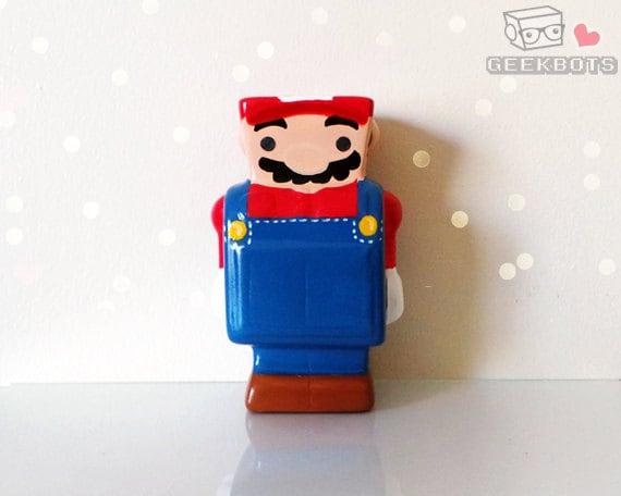 Mario Bot Ceramic Robot Coin Bank Piggy Bank Super Mario Bros