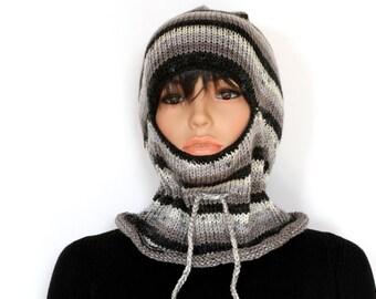 Knitted  balaclava Ski Mask, Winter Balaclava Mask, knitted Face Mask