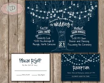 Under the Stars Wedding Invitation Printable