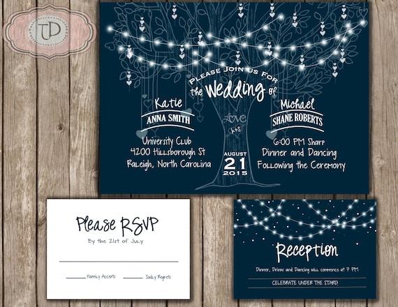 Star Wedding Invitations: Under The Stars Wedding Invitation Printable