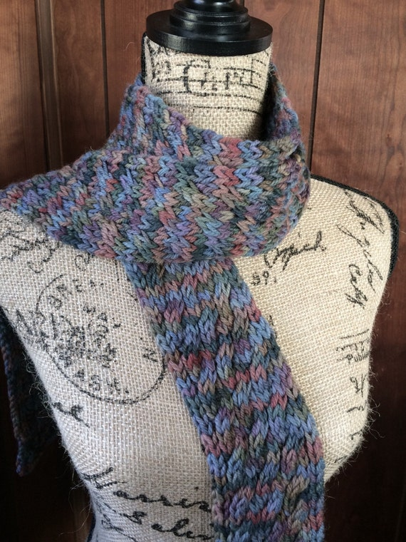 Knit Scarf, Wool Scarf,  Merino Wool, Hand Knit Scarf, Winter Scarf, Womens Gift
