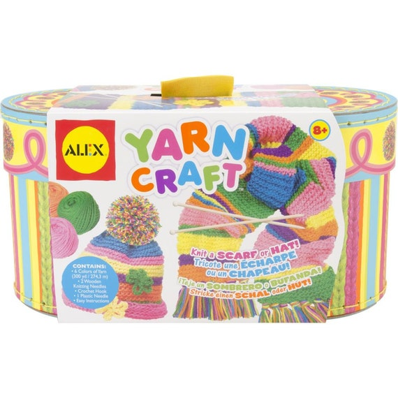 yarn craft kit for kids contains yarn crochet by ephemeratta. Black Bedroom Furniture Sets. Home Design Ideas