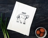 Hungry Like The Wolf - Funny 80s Screen Printed Kitchen Cotton Tea Towel