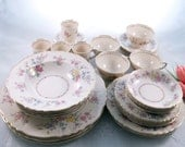 SALE, NEW PRICE -- Vintage Syracuse Briarcliff 36 Piece China Set for Four, Free Shipping