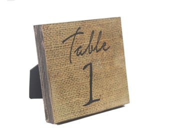 RUSTIC WEDDING TABLE Numbers-Burlap Table Numbers-Rustic Wedding Table Decorations-Rustic Wedding Table Centerpieces