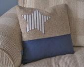 Nautical Pillow Blue Star 16 inch // Nautical Decor // Coastal Decor