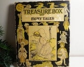 Treasure Box of Fairy Tales 1922 - Platt Munk Company - Vintage Books & Box