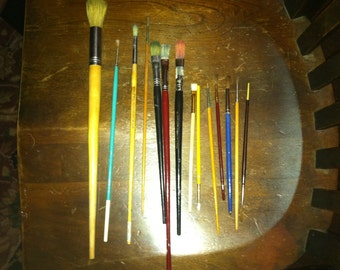 Vintage lot of paint brushes GRUMBACHER and more