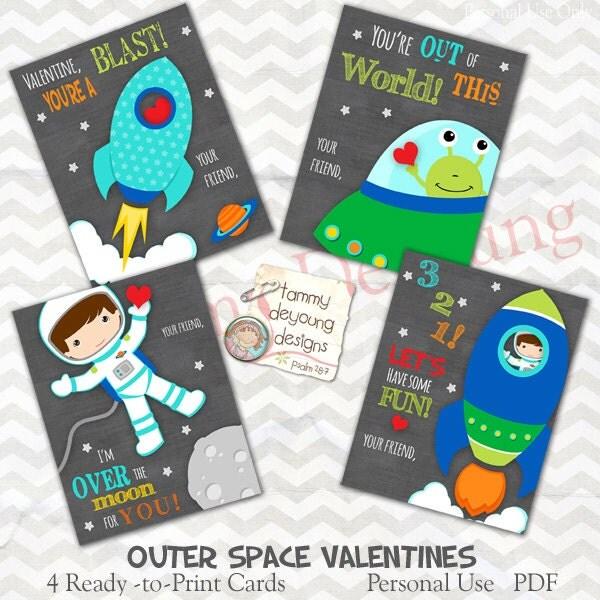 Space Pun Valentines Astronaut