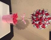 Custom Made to Order Hershey Kiss Chocolate Valentine Tree Candy Buffet