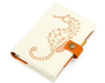 Seahorse, Planner, Organizer, Personal Planner, Personal organizer, student, calendar, weekly, agenda, monthly, daily, notebook, handmade