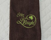 St. Patrick's Day Embroidered Microfiber Bar Towel