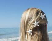 STARFISH HAIR ACCESSORIES, Beach Wedding Hair Accessories, Beach Wedding Hair Pins, Beach Wedding Jewelry by Cheydrea