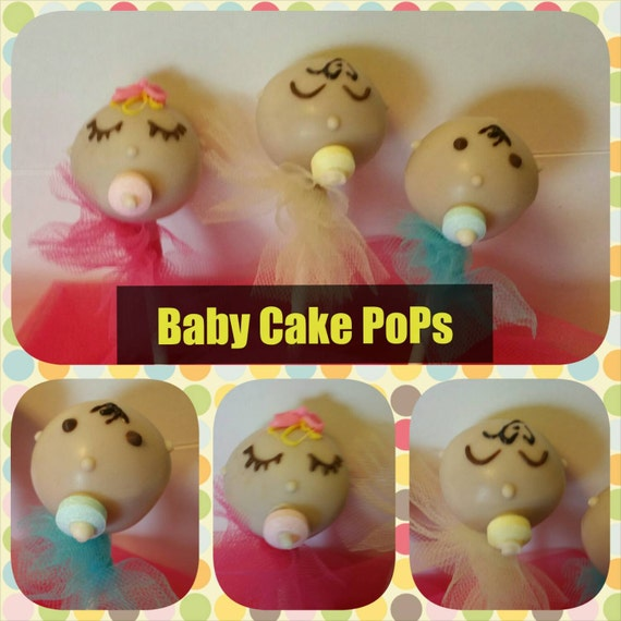Baby shower favors 12 Baby cake pops